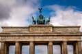 Quadriga on Top of the Brandenburger Tor (Brandenburg Gate) Royalty Free Stock Photo
