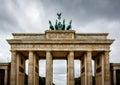 Quadriga on Top of the Brandenburger Tor (Brandenburg Gate) Royalty Free Stock Photo