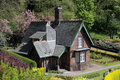 Quaint old cottage in Princes Street gardens Royalty Free Stock Image