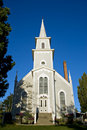 Quaint popular small wedding church Stock Photos