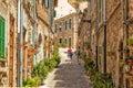 A Quaint Street in Valldemossa, Mallorca.