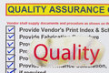 Quality assurance checklist many uses in the oil and gas industry Stock Photography