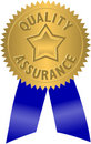 Quality Assurance Seal/eps Royalty Free Stock Photography