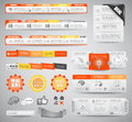 Quality clean web elements for blog and sites icons header carousel infographics a lot of icons Stock Photography