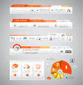 Quality clean web elements for blog and sites icons header carousel infographics a lot of icons Royalty Free Stock Images
