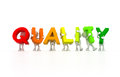 Quality control team d isolated Royalty Free Stock Photography