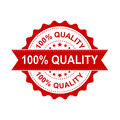 100% quality grunge rubber stamp. Vector illustration on white b Royalty Free Stock Photo