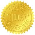 Quality Guaranteed Gold Seal Royalty Free Stock Photo