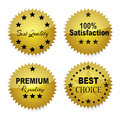 Quality labels four label isolated on a white surface Royalty Free Stock Photo