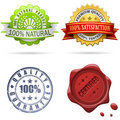 Quality labels and seals Royalty Free Stock Image