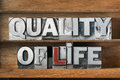 Quality of life tray Royalty Free Stock Photo
