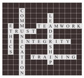 Quality management crossword puzzle Royalty Free Stock Photo