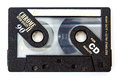 Quality music cassette tape for minutes of Royalty Free Stock Images