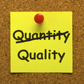 Quality Note Showing Excellent Product Royalty Free Stock Image