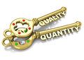 Quality and quantity d generated picture of a key a key Stock Photography