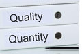 With quality and quantity to success business concept successful Royalty Free Stock Photos