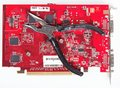 Quality repair computer video card isolated background Royalty Free Stock Images