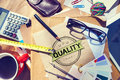 Quality satisfaction grade guarantee rank concept Royalty Free Stock Photos