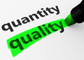 Quality Vs Quantity Concept Royalty Free Stock Photo