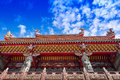 Quanji temple jiufen taiwan under the blue sky Royalty Free Stock Photography