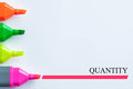 Quantity multicolor of highlight pen with a word of Stock Photo