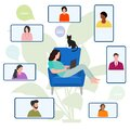 Quarantine Remote Work Video conference Meeting Royalty Free Stock Photo