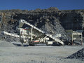 Quarry conveyor belt machine Royalty Free Stock Photos
