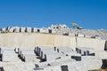 Quarry granite in the community of madrid spain Stock Photo