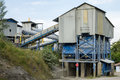 Quarry with modern crushing and screening equipment Royalty Free Stock Photo