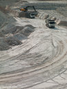 Quarry production photo freight mashyna on manufacturing careers Royalty Free Stock Image