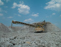 Quarry production photo lorry on a career Royalty Free Stock Image