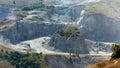 Quarry of stones in studena bulgaria Royalty Free Stock Photos