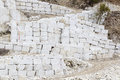Quarry of white marble Stock Images