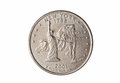 Quarter of dollar coin Royalty Free Stock Photo