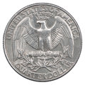 Quarter dollar coin Royalty Free Stock Photo