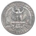 Quarter dollar coin Royalty Free Stock Photo