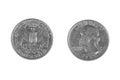 Quarter dollar Royalty Free Stock Photo