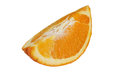 A quarter of an orange on white background Royalty Free Stock Photo