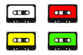 Quartet of cassette tapes Royalty Free Stock Photo