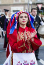 QUARTU S.E., ITALY - JULY 15, 2017: 31 Sciampitta - International Folklore Festival - Sardinia Royalty Free Stock Photo