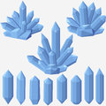 Quartz geometric crystal. Royalty Free Stock Photo