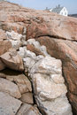 Quartz intrusion in granite Royalty Free Stock Image