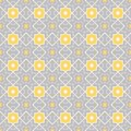 Quatrefoil lattice pattern traditional seamless vector background Royalty Free Stock Image