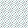 Quatrefoil lattice pattern traditional seamless vector background Royalty Free Stock Photo