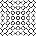 Quatrefoil seamless pattern background in black and white. Vintage and retro abstract ornamental design. Simple flat