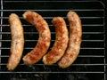 Quatro salsichas Imagem de Stock Royalty Free