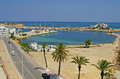 Quay in monastir tunisia famous resort Stock Image