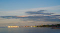 Quay of petrozavodsk city onego lake in the Royalty Free Stock Photography