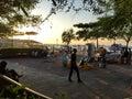 Quay port in Zanzibar Royalty Free Stock Photo