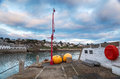 The quay at st mawes on near falmouth on south coast of cornwall Royalty Free Stock Images